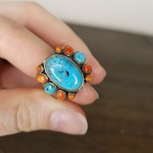 Sundance Turquoise and Sterling Silver Ring Size 7